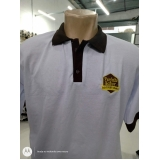 camisa polo bordada uniforme atacado Brás